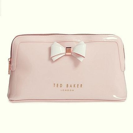 TED BAKER ポーチ TED BAKER Abbie Curved Bow Large Wash Bag 大きめリボンポーチ