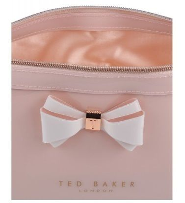 TED BAKER ポーチ TED BAKER Abbie Curved Bow Large Wash Bag 大きめリボンポーチ(4)