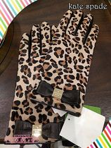 Kate spade★レオパードレザー グローブLEOPARD LEATHER GLOVE