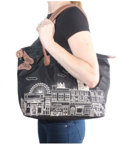 日本未入荷 ☆ Vendula London Skyline Nylon Tote ブラック