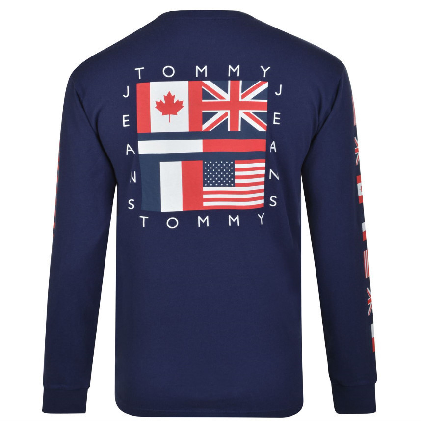 ★TOMMY JEANS★ロゴ 長袖Tシャツ / 2色