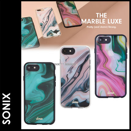 Sonix iPhone・スマホケース 新作★追跡&関税込【Sonix】THE MARBLE LUXE