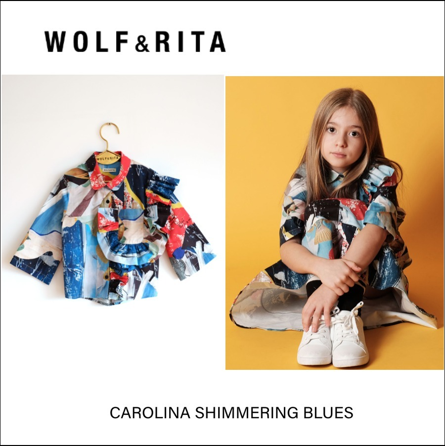 ポルトガル発◆WOLF & RITA◆CAROLINA SHIMMERING BLUES