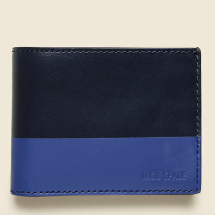 ジャックスペード ★ Men's Dipped Leather Slim Billfold