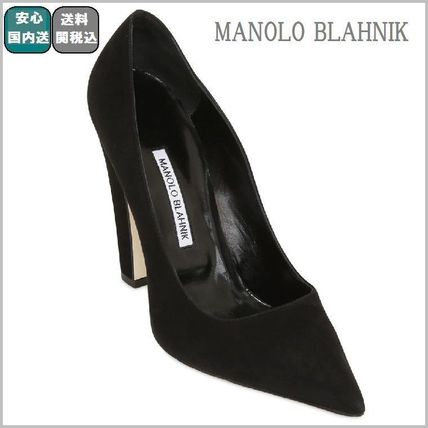SALE☆関税込【Manolo Blahnik 】115MM ALBA SUEDE PUMPS