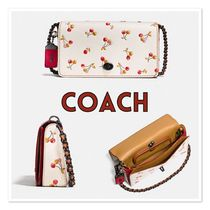 Coach /dinky in glovetanned leather with cherry print