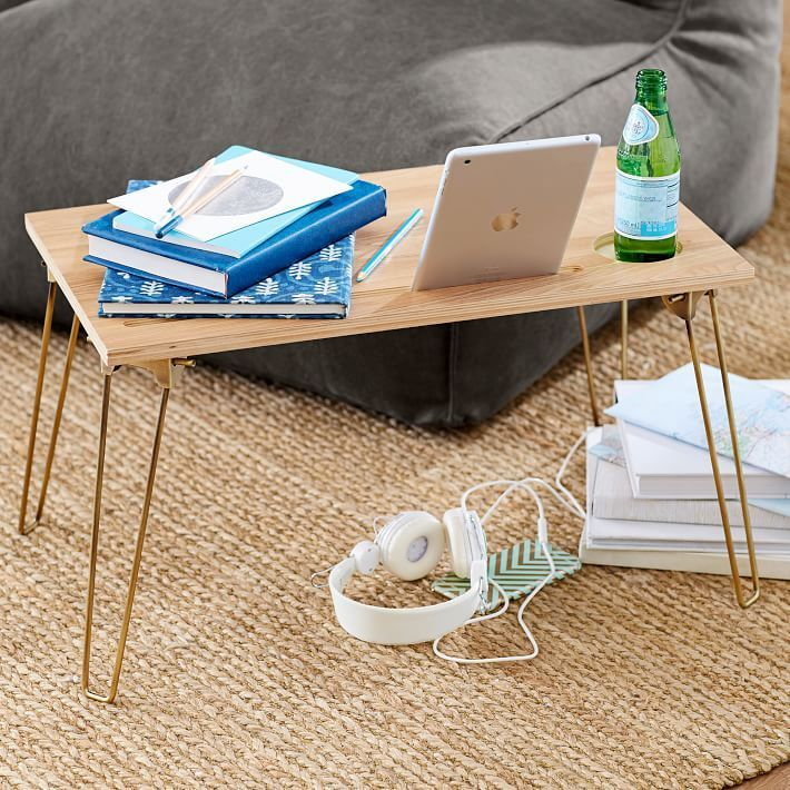 【Pottery Barn】Wood & Metal Lapdesk コップ置き 2カラー★