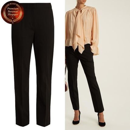 DVF-Straight-leg stretch-wool trousers