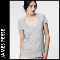 JAMES PERSE(ジェームスパース) Tシャツ・カットソー ★追跡付【JAMES PERSE】S/S CASUAL V/H.Grey