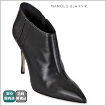SALE☆関税込【Manolo Blahnik 】CALFSKIN POINTY ANKLE BOOTS