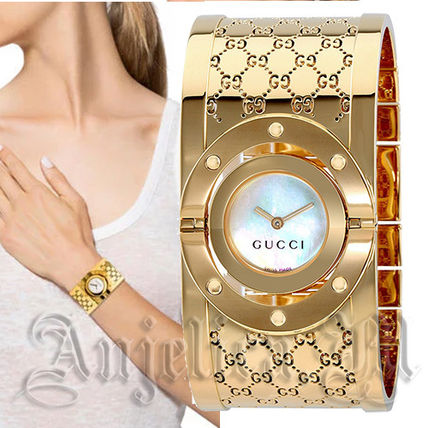 ★ゴージャス!★GUCCI Twirl G-Tone Bangle Watch YA112440