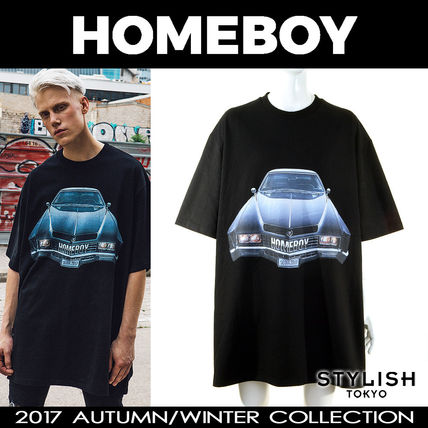 HOMEBOY 17aw ブラック ホームボーイカー プリント Tシャツ