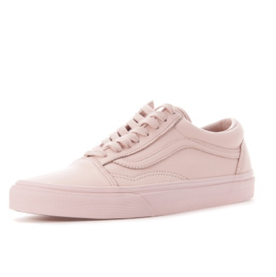 VANS☆OLD SCKOOL Leather mono(ice flow/sepia rose)