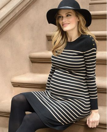 Seraphine-Cotton Knitted Maternity & Nursing Dress 送関込み