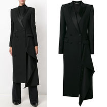 17-18AW AM256 DOUBLE BREASTED COAT WITH HANDKERCHIEF DRAPE