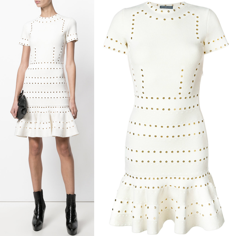 17-18AW AM257 EYELET MINI DRESS