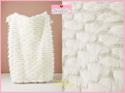 18AW*最安値保証*関税送料込【Anthro】Feathered Faux Fur Throw