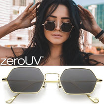 全6色zeroUV*RETRO SMALL HEXAGON COLORED FLAT LENS METALFRAME