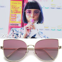 全5色*zeroUV*OVERSIZE GRADIENT COLOR FLAT LENS CAT EYE SUN