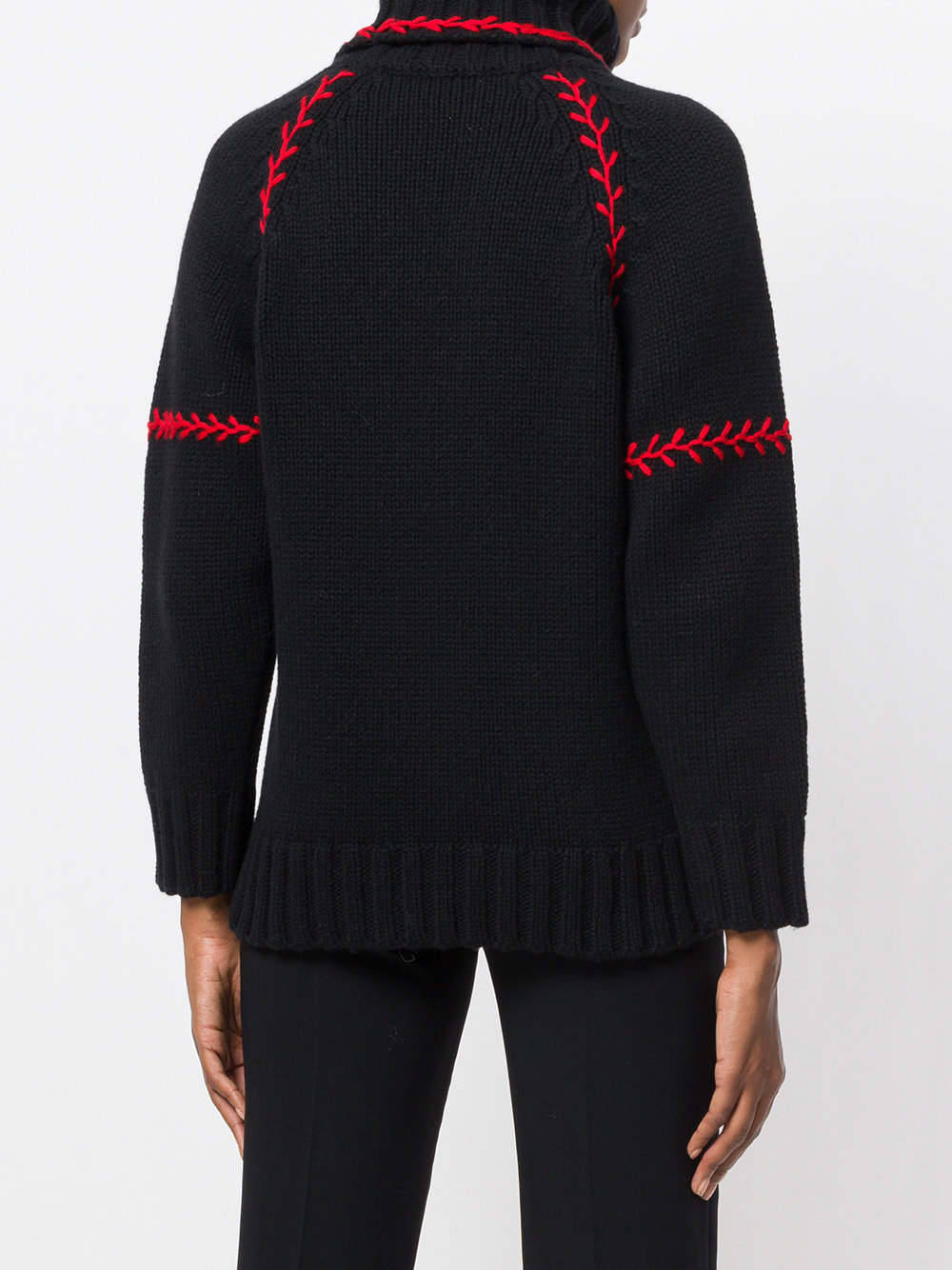 17-18AW AM263 FEATHER-STITCHED OVERSIZE CASHMERE SWEATER