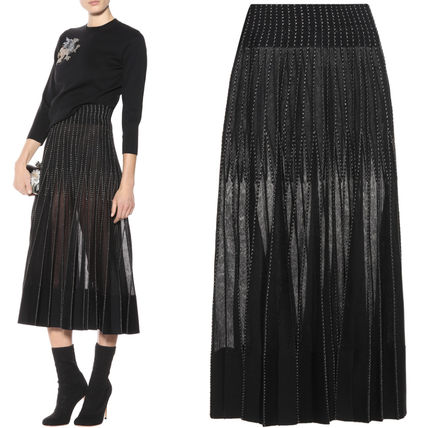 17-18AW AM264 PLEATED KNIT SKIRT