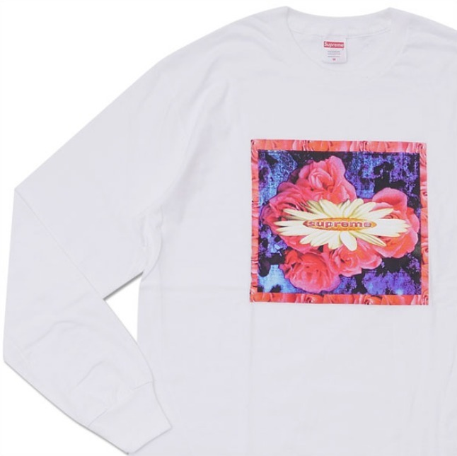 送料込み★Supreme Bloom L/S Tee White