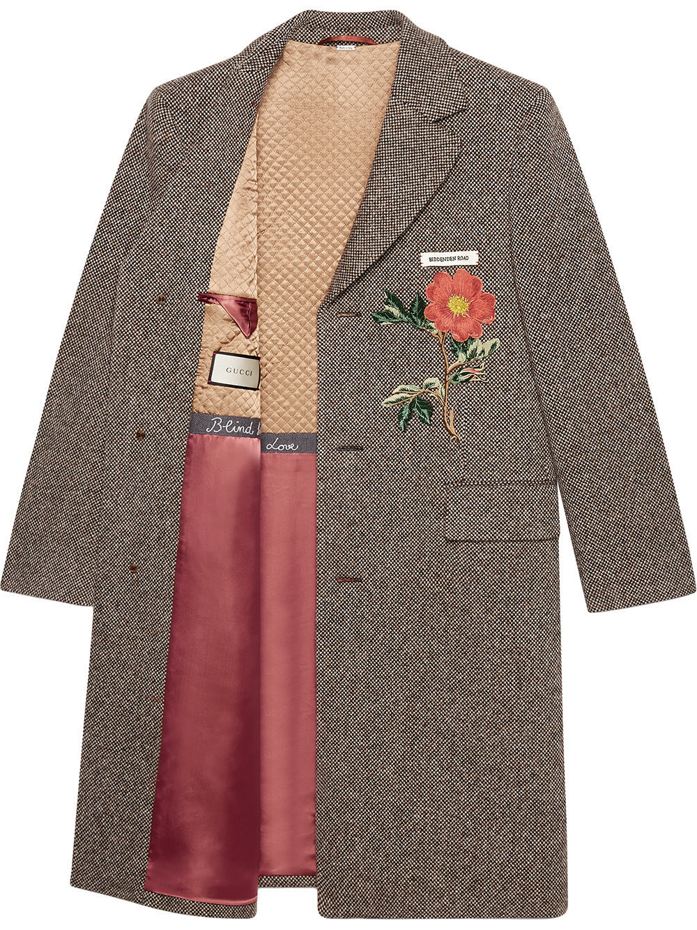 17-18AW WG290 LOOK63 POPPY EMBROIDERED WOOL COAT
