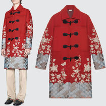 17-18AW WG291 EMBROIDERED WOOL TWILL DUFFLE COAT