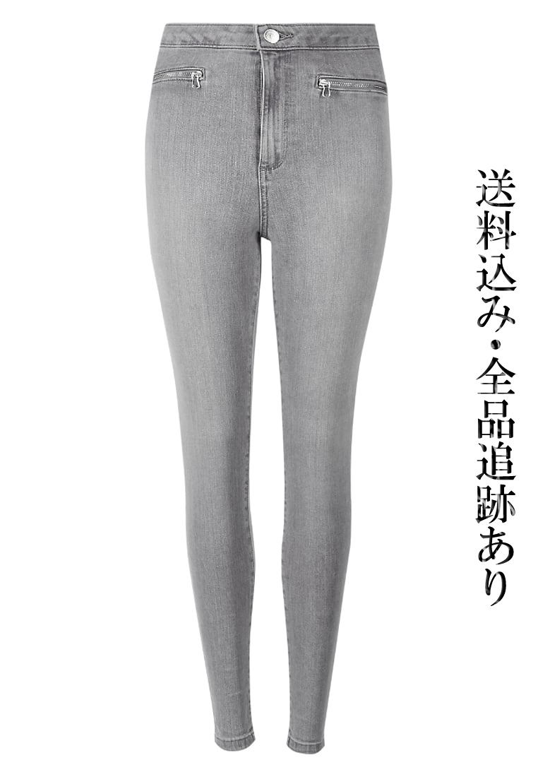 先取り♪Marks&Spencer London スキニー ジーンズ LIGHT GREY