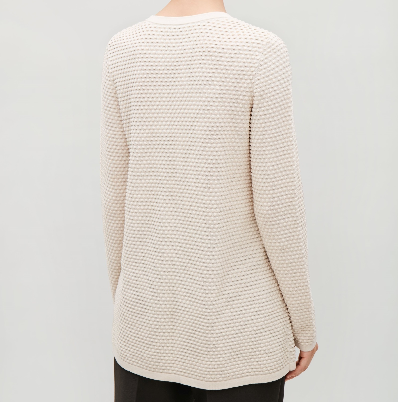 """COS""TEXTURED A-LINE TOP BLACK"