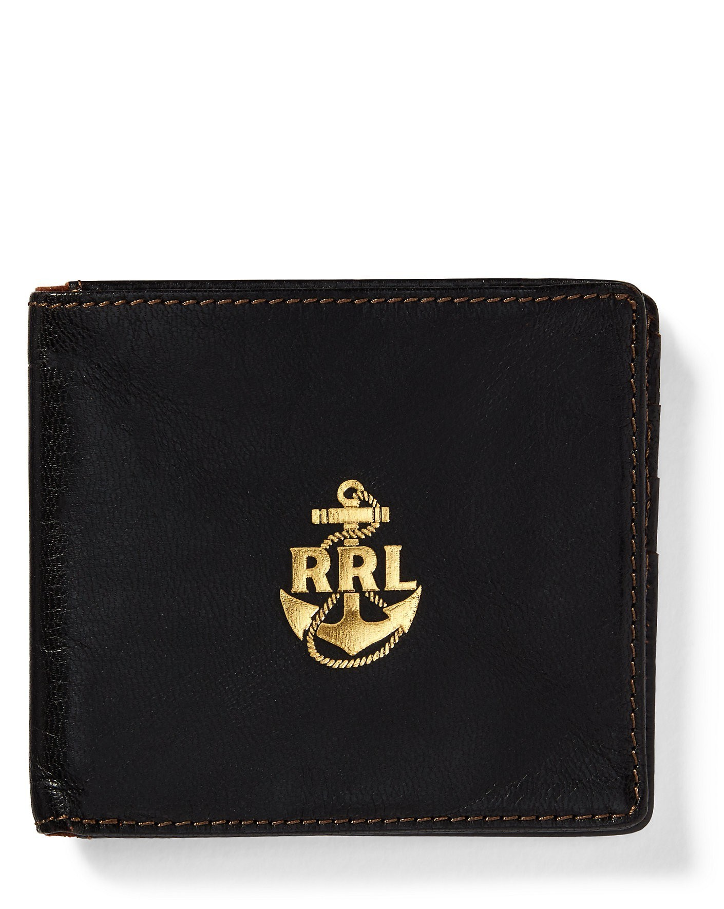 "関税込""Ralph Lauren""RRL Tumbled Leather Billfold メンズ 財布"