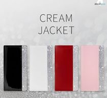iPhone Xケース DreamPlus Cream Jacket 手帳型 レザー ライン