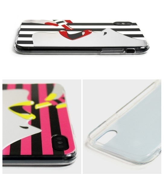 iPhone Xケース DreamPlus STRIPE MIRROR CASE カバー