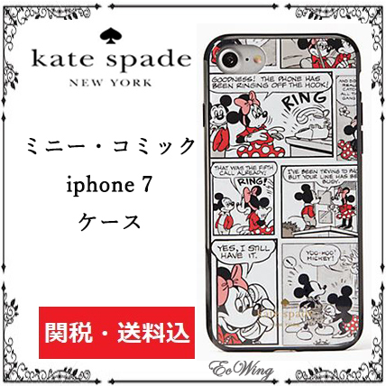 kate spade★ミニーマウス・コミック★iphone 7 ケース