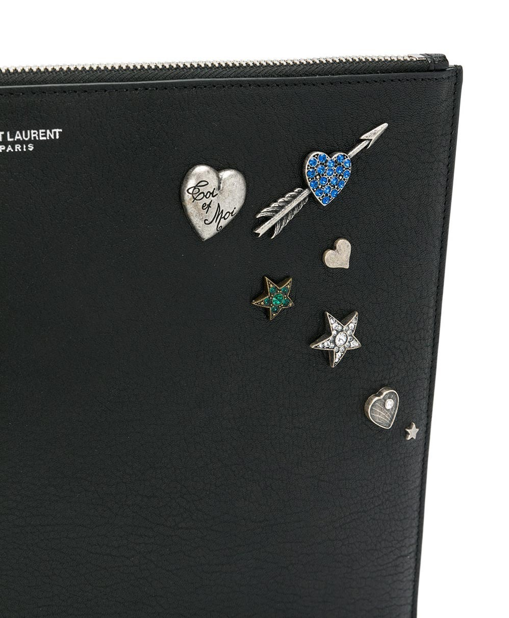 【関税負担】 SAINR LAURENT EMBELLISHED CLUTCH