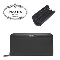 PRADA メンズ長財布 2ML317 SAFFIANO CUIR+SOFT CALF NERO(新品)