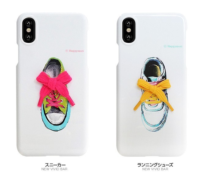 iPhone Xケース Happymori New Vivid/Flower Shoe Bar カバー