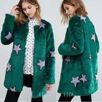 国内発送 ASOS/Urbancode Starry Faux Fur Coat
