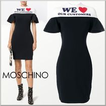 17-18AW★Moschino フィット ワンピース WE LOVE OUR CUSTOMERS