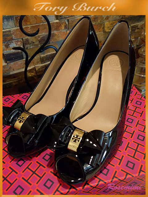 貴重な在庫!★Tory Burch★STACKED BOW 65MM WEDGE6.5