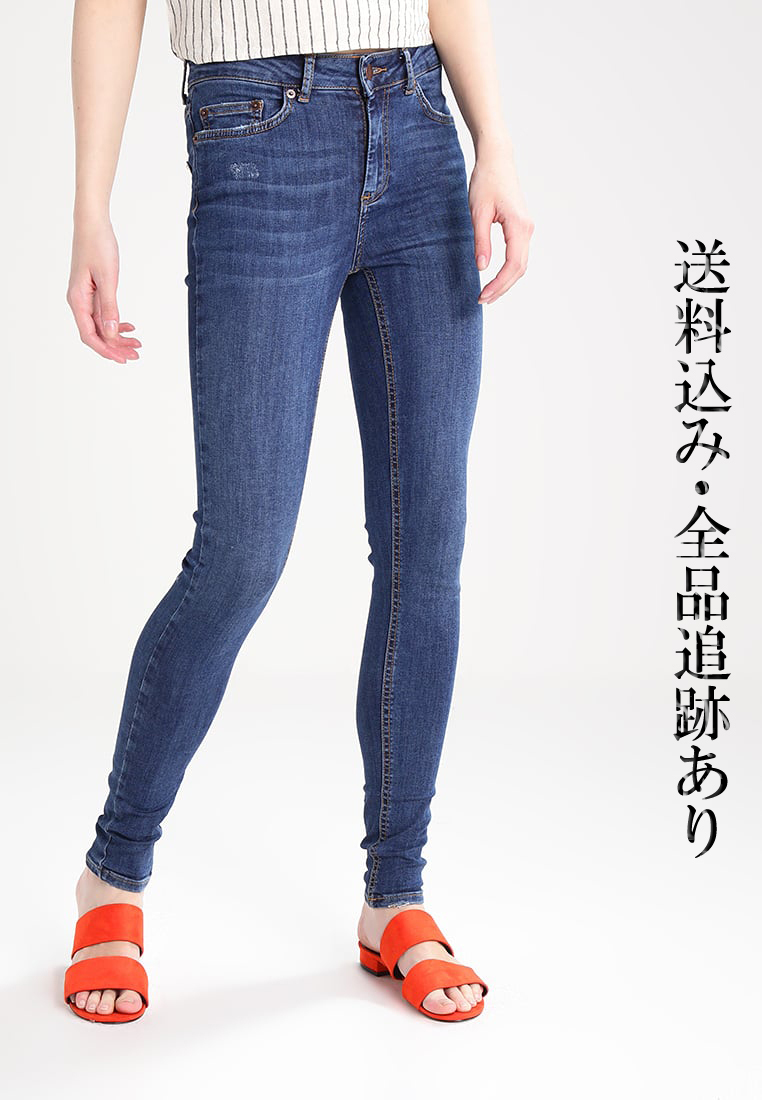先取り♪Pieces_DELLY スキニー ジーンズ MEDIUM BLUE DENIM