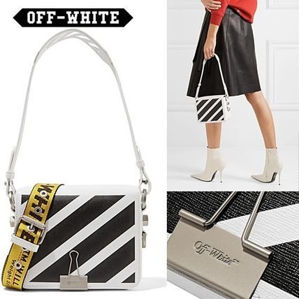 【2017-2018FW】Off-White BINDER CLIP レザーバッグ