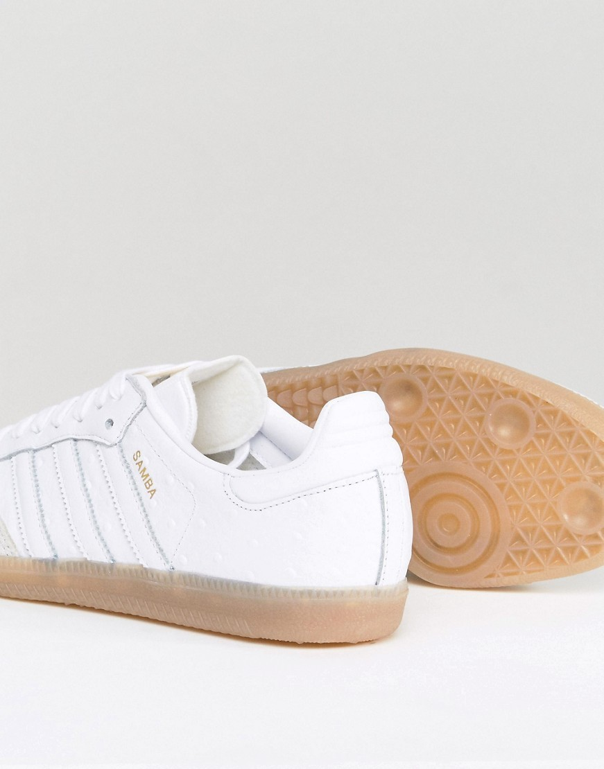 adidas Originals Samba Trainers In White Texture