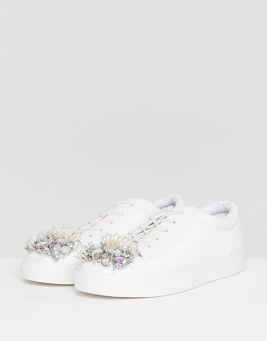 ASOS DREAM ON Embellished Trainers