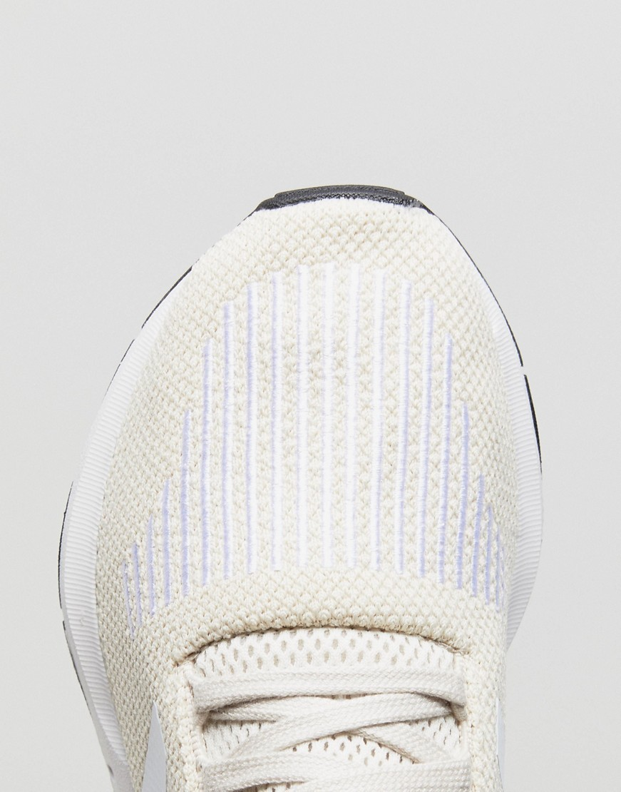 adidas Originals Swift Run Trainers In Cream With White