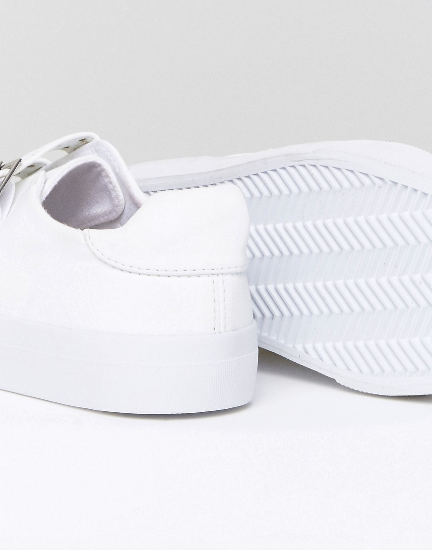 ASOS DEE Wide Fit Buckle Trainers