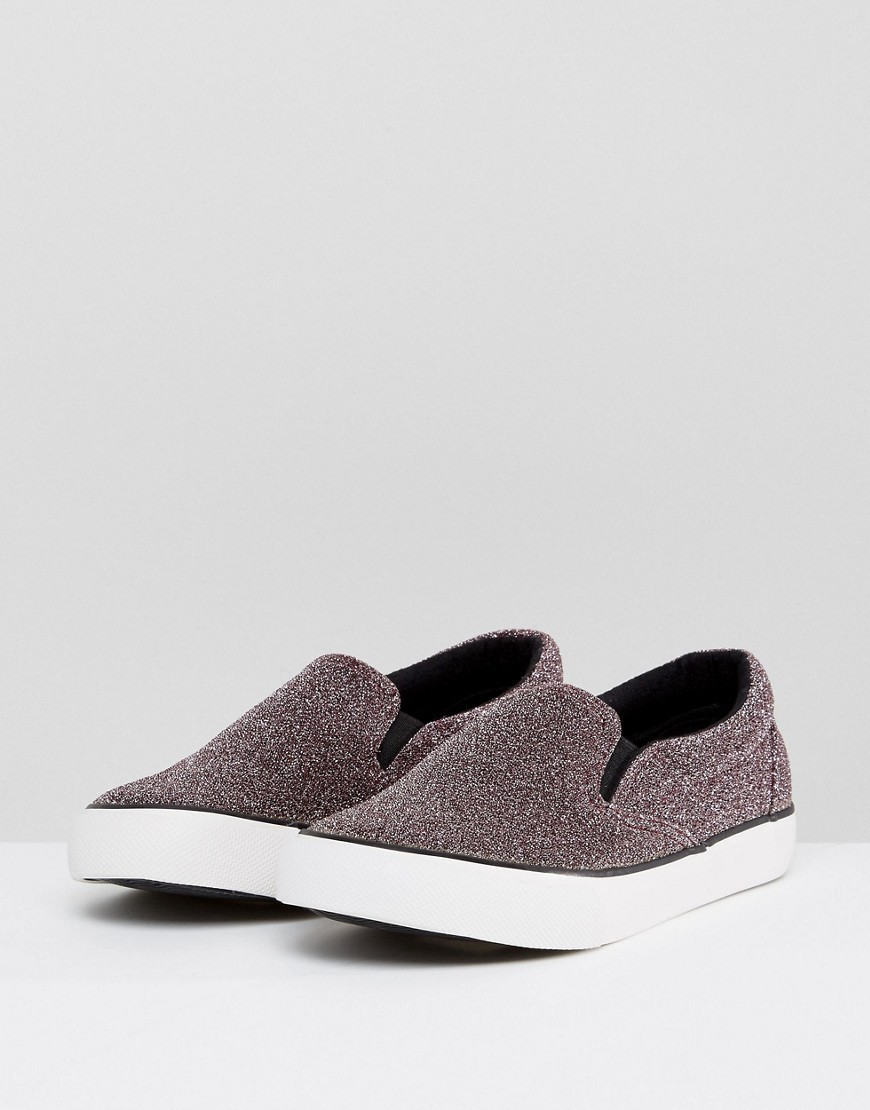 New Look Pink Lurex Slip On Trainer