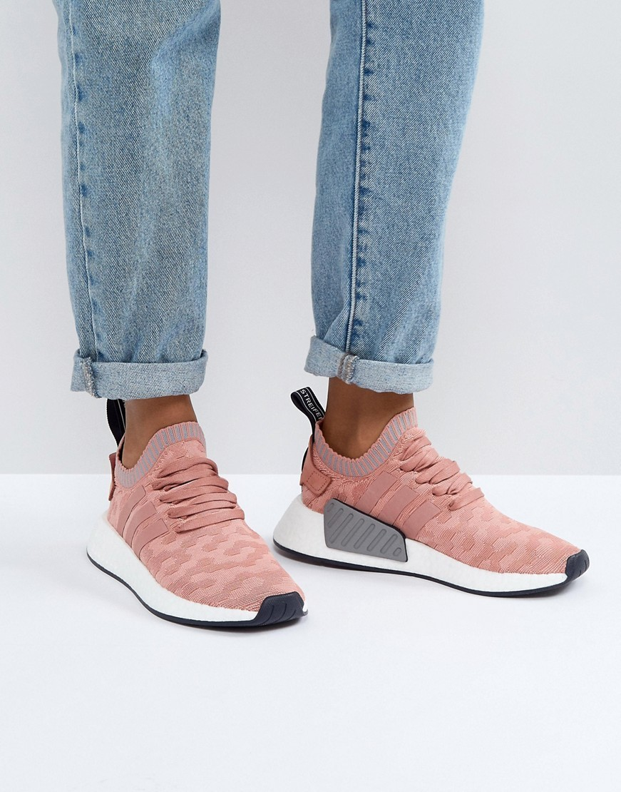 adidas Originals NMD R2 Trainers In Pink
