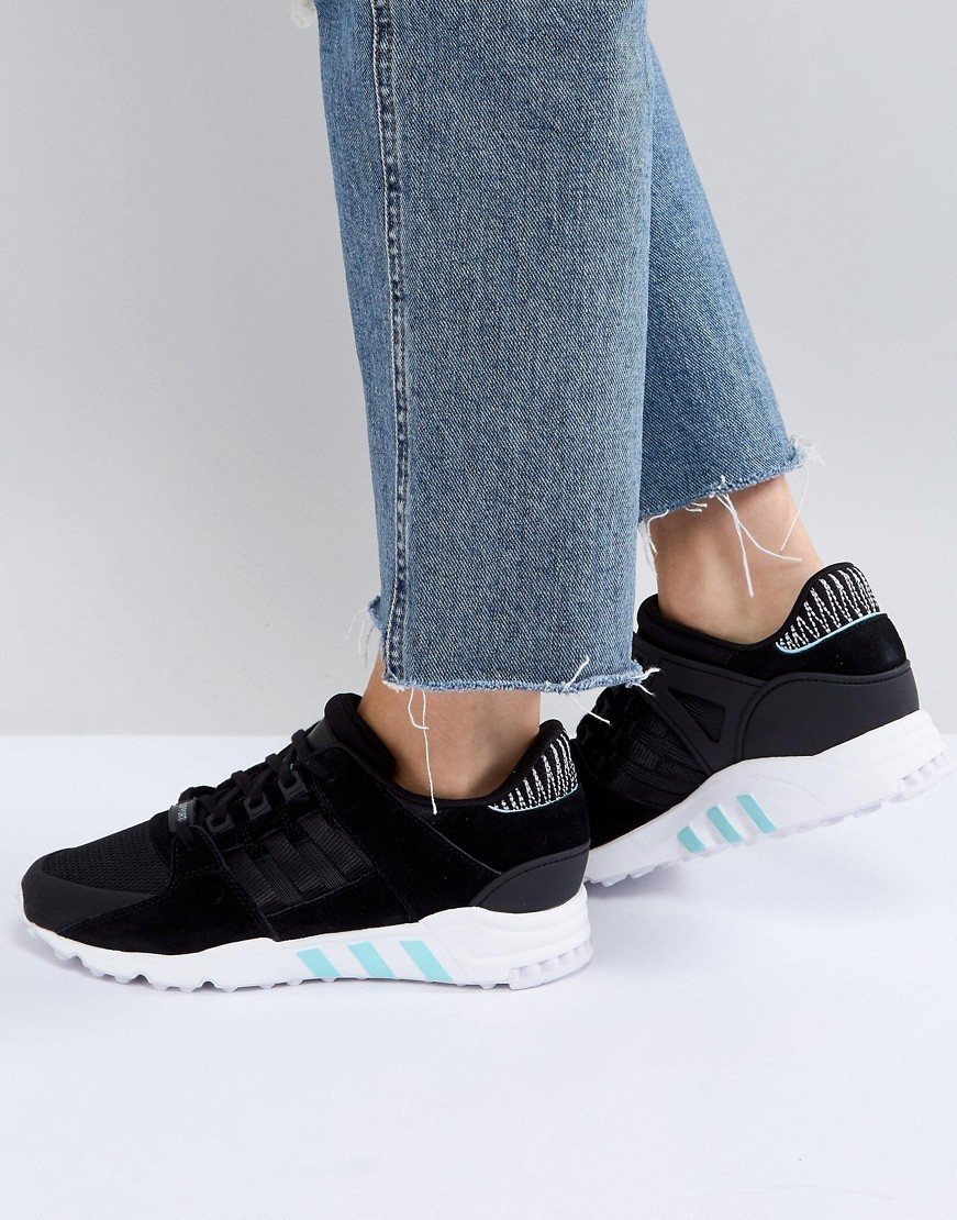 adidas Originals EQT Support RF Trainers In Black And Mint
