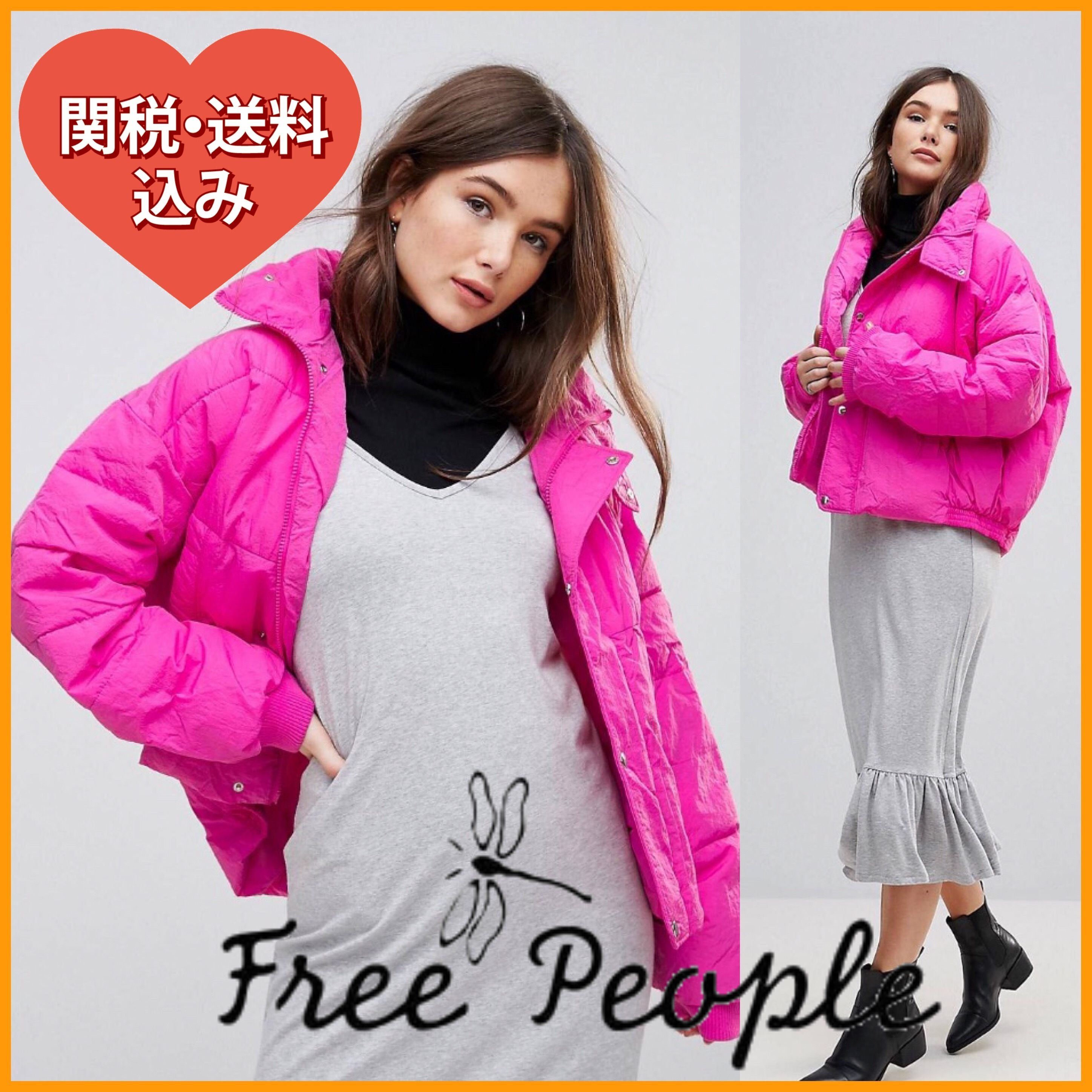 国内発[関税・送込]Free People Slouchy Cropped Quilted Jacket